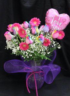 1800flowers rainbow roses