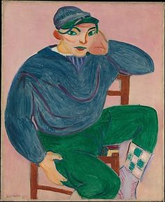Young Sailor II by Henri Matisse (French, 1869-1954) 1906 oil on canvas painting from the collection of @metmuseum.
