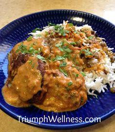 Zucchini Koftas with Coconut Curry Sauce #veganmofo