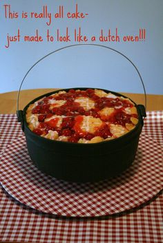 Cherry Cobbler and Dutch Oven