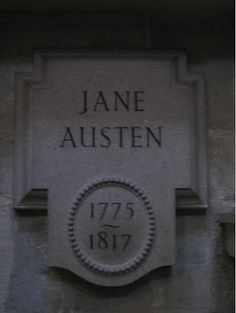 Jane Austen, Westminster Abby. I didn't are take a picture when I was there, but someone did. This memorial is with a grouping of authors, near William Shakespeare.