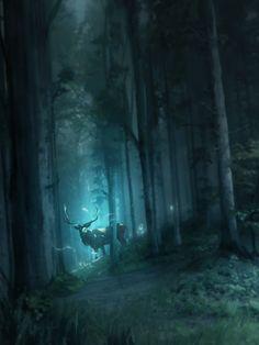 """fantasyartwatch: """"Mystic Forest by Franklin Chan """""""
