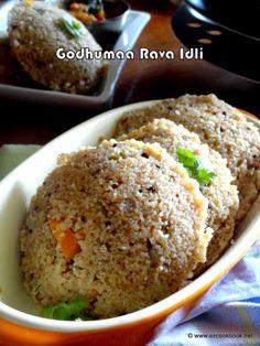 EzCookBook: Broken Wheat Rava Idli | Godhuma Rava Idli - Instant Idli Recipe