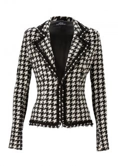ANA ALCAZAR jacket helis - houndstooth style
