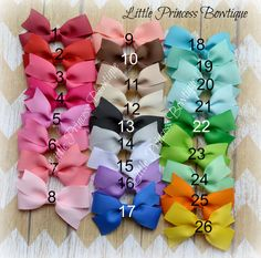 small bows - baby bow - bows for baby - solid hair bow - alligator hair bow - ribbon hair bow - 3 inch hair bow - bows - baby bows - girl by LilPrincessBowtique8 on Etsy