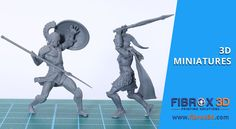 Imagine Your Miniature and Make It Real Through 3D Printing by FIBROX3D