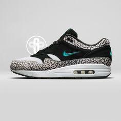 sale retailer 7385a d19cf Nike Air Max 1 Atmos Elephant Jewel (2017) Chaussure Garcon, Homme Femme,