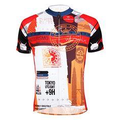 Wildwalk Men s Short Sleeve Breathable Cycling Bike Jerseys Top(Red c38207d1b