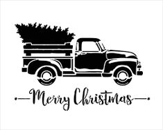 Little Red Truck With Merry Christmas Script Stencil – Choose Size Wenig roter LKW mit Skript-Schablone der frohen Weihnachten Christmas Truck, Noel Christmas, Christmas Shirts, Christmas Crafts, Merry Christmas Signs, Cricut Projects Christmas, Christmas Labels, Xmas, Christmas Printables