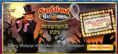 2015 HALLOWEEN AT GARDALAND - Monstrous Fun, Oct. 3-4, Oct. 10-11, Oct. 18-19. Oct. 17-18, and Oct.24-25, and Nov. 1, 10 a.m.-6 p.m., and Oct. 31, 10 a.m.-midnight, in Castelnuovo del Garda, Via Derna, 4, about 45 miles west of Vicenza.