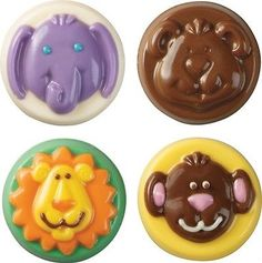 Chocolate Mould - 8 Animal Cookie Candy Moulds with Recipe Card Pk 1 (8 Cavity M