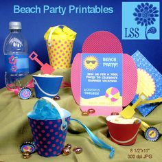 beach party printables