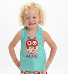 Halter Swing Top for Girls with Turquoise Swirl and by SunbeamRoad, $32.50