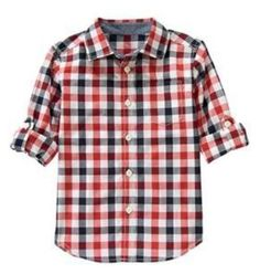 NWT Gymboree ALL-STAR CHAMP, Gingham Shirt  Available in our online store at http://stores.ebay.com/starbabydesignshomestore