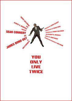 You Only Live Twice (1967) - Alternative Movie Poster by Owain Wilson ~ #alternativemovieposter #owainwilson #bondmoviesalternativeposters