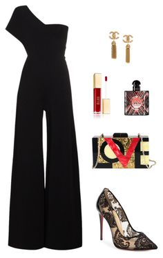 """Classy goals"" by allieofficial on Polyvore featuring STELLA McCARTNEY, Christian Louboutin, Diophy and Yves Saint Laurent"