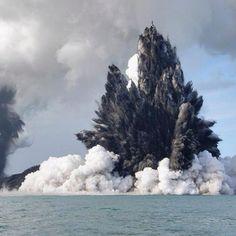 Onderwater vulkaan
