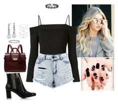 """""""Untitled #781"""" by fatyhnrqz94 ❤ liked on Polyvore featuring Fleur du Mal, Boohoo, Tommy Hilfiger, Mulberry, Blue Nile and Accessorize"""