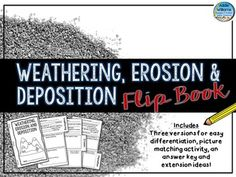 Weathering, Erosion & Deposition Flip Book - Easy to use flip book to review and learn the concepts related to weathering and erosion! My students love to put these flip books together. Includes three different versions of the booklet for easy differentiation for varying grade levels and abilities. 5-9, 11 pgs. $