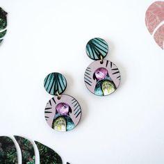 Bird Dangle Earrings - Parrot Earrings - Statement Bird Earrings - Bird Jewellery - Bird Print - Drop Earrings - Jungle Earrings