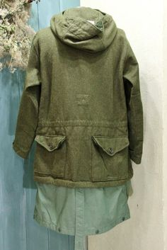 Engineered Garments Over Parka Wool Flannel Olive