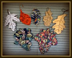 Fall has always been the season when I really get my creative juices flowing. During one Fall season I was dabbling in quilted and embroidered leaf ornaments, buntings or garlands, and 3D mini-quilts. This free e-book shows you how to make the 7 different leaf ornaments shown in the picture above. Fall Crafts, Arts And Crafts, Embroidered Leaves, Buntings, Book Show, Love Is Free, Mini Quilts, Fall Season, Garlands
