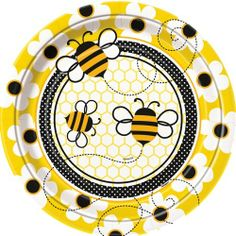 "Honey Bee Party 9"" Lunch/Dinner Plates Unique,http://www.amazon.com/dp/B00BLQH2QW/ref=cm_sw_r_pi_dp_ScNdtb1MNSS2GAPW"