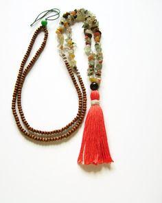 Wooden hippie tassel necklace by AellaJewelry, $28.00