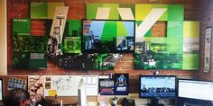 creative office ux wall design