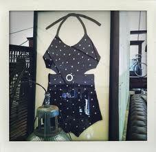 framed vintage bathing suit  makes cool wall art