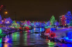 Light display in downtown Caldwell, Idaho.