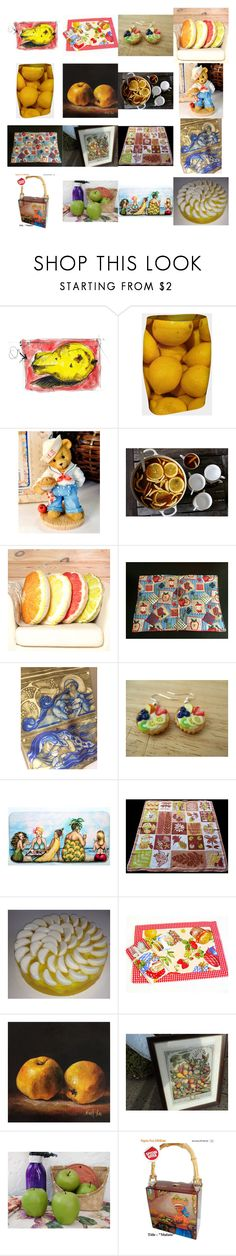 """Fruit Salad"" by kateduvall ❤ liked on Polyvore featuring interior, interiors, interior design, home, home decor, interior decorating, kitchen and vintage"