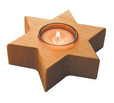 BioBio Productos Ecológicos - Portavelas estrella madera