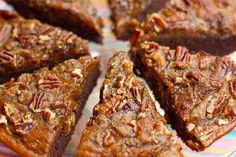 Brownie Pumpkin Pie with a Crunchy Pecan Topping