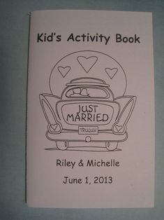 Keep the kids amused with a wedding-themed colouring book!