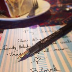 Poetry Writing with a Fancy Fountain Pen Date Night