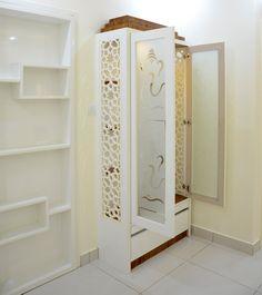 70 Ideas open closet in bedroom corner unit with mandir Living Room Partition, Room Partition Designs, Bedroom Corner, Corner Closet, Corner Tv, Temple Room, Temple Design For Home, Baby Room Closet, Mandir Design