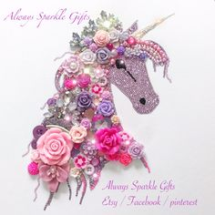 Pink princess vibrant lavender unicorn wall art Please click the link to order a sparkling one off piece of your very own