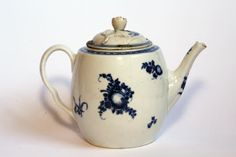 1775 130mm h. Worcester blue and white barrel teapot Provenance Gift from Mary Ursula Rogers View fewer details  Mottisfont © National Trust / Michael Proctor