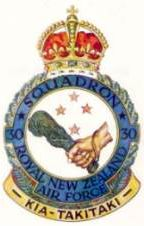 30 Squadron Royal New Zealand Air Force crest. No. 30 Squadron RNZAF was a New Zealand light bomber squadron which saw service against the Japanese in the Pacific Theatre during the last two years of the Second World War.