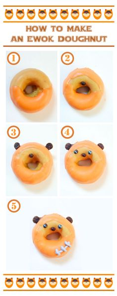 Star Wars Mini Doughnuts – how to make ewok doughnuts