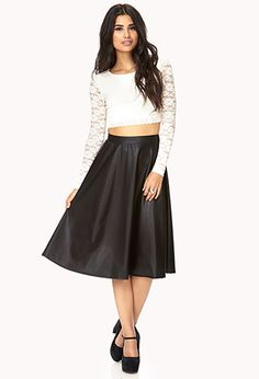 Selected Leather Midi Skirt | ONLINE SHOPPING LIST. | Pinterest ...