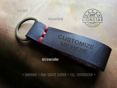 R07 LIONSTARS Leather Keychain man gift husband by THELIONSTARS