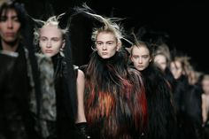 Paris, France: Models take to the catwalk at the end of Belgian fashion designer Ann Demeulemeester's autumn/winter 2011 ready-to-wear show