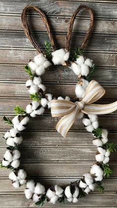 Spring Easter decorations - The 15 best spring Easter decorations- # best ., Spring Easter Decorations - The 15 Best Spring Easter Decorations- # Best . # Best # The # Spring Easter Decorations # Spring Easter Decorations Bes. Easter Crafts For Adults, Diy Osterschmuck, Easy Diy, Cotton Wreath, Diy Easter Decorations, Easter Wreaths Diy, Spring Wreaths, Handmade Decorations, Table Decorations