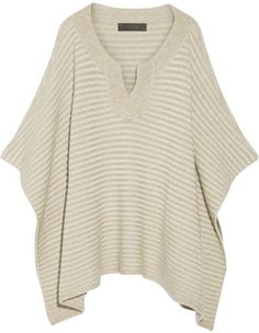The Elder Statesman - Ribbed Cashmere Poncho - Beige. Poncho fashions. I'm an affiliate marketer. When you click on a link or buy from the retailer, I earn a commission.
