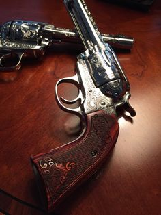 My Ruger New Vaquero Bisley 357 MAG, engraved with Rosewood grips