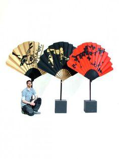 Oriental Chinese Fan Prop - Gold