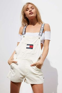 Slide View: 1: Tommy Jeans '90s Shortall Overall