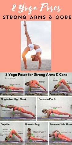 , The beauty of yoga is that you can go with your typical flow (that is, vinyasa) for a full-body workout or you can cherry-pick from its repertoire of . , 8 Powerful And Effective Yoga Poses For Perfectly Shaped Arms In 1 Workout Yoga Fitness, Fitness Workouts, At Home Workouts, Arm Workouts, Yoga Exercises, Physical Fitness, Fitness Classes, Yoga Moves, Fitness Style